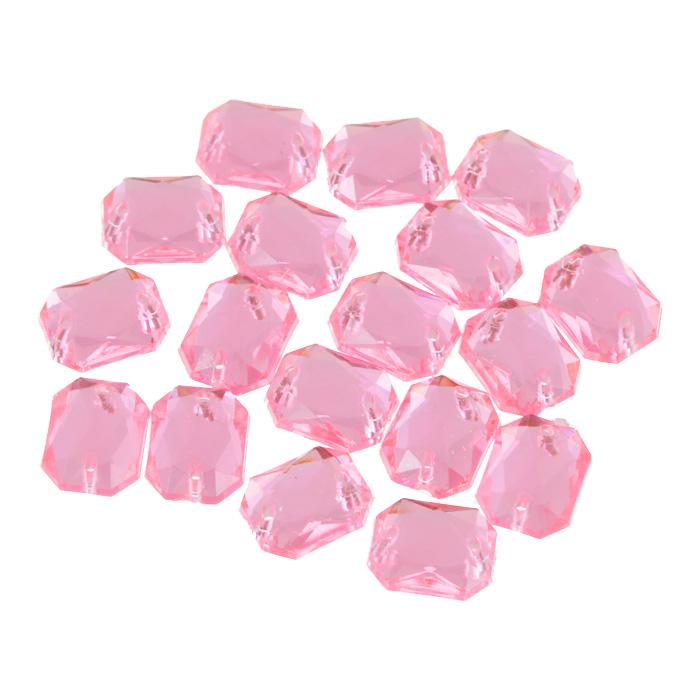 Стразы пришивные Астра, акриловые, прямоугольные, цвет: светло-розовые (03), 8 мм х 10 мм, 18 шт. 7701652_037701652_03 св.розовыйСтразы пришивные, акриловые, 8*10мм, 18шт/упак (прямоугольные) Астра 03 св.розовый