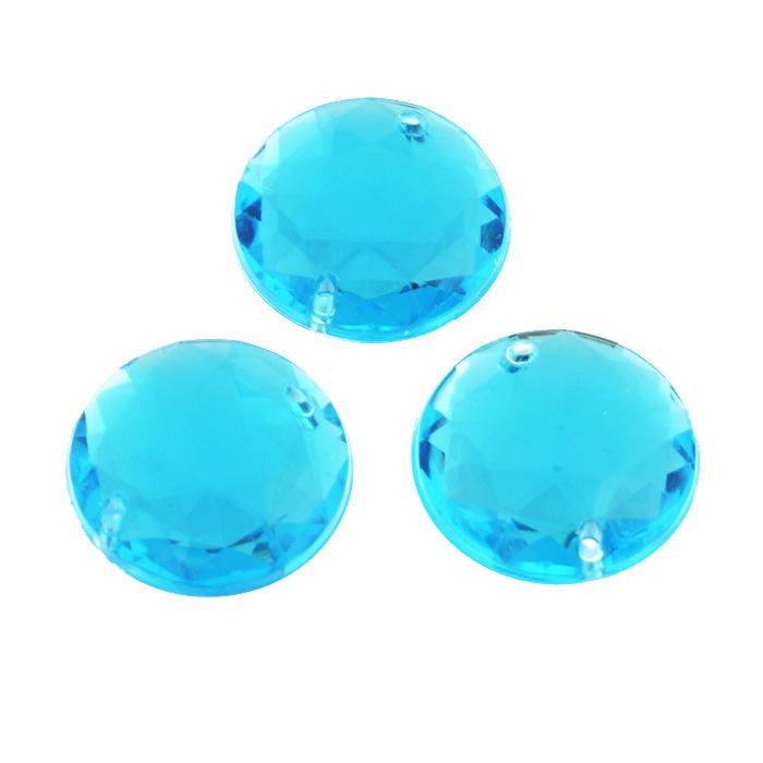 Стразы пришивные Астра, акриловые, круглые, цвет: голубой (32), диаметр 25 мм, 3 шт. 7701648_327701648_32 голубойНабор страз Астра, изготовленный из акрила, позволит вам украсить одежду и аксессуары. Стразы оригинального и яркого дизайна круглой формы оснащены отверстиями для пришивания. Украшение стразами поможет сделать любую вещь оригинальной и неповторимой.
