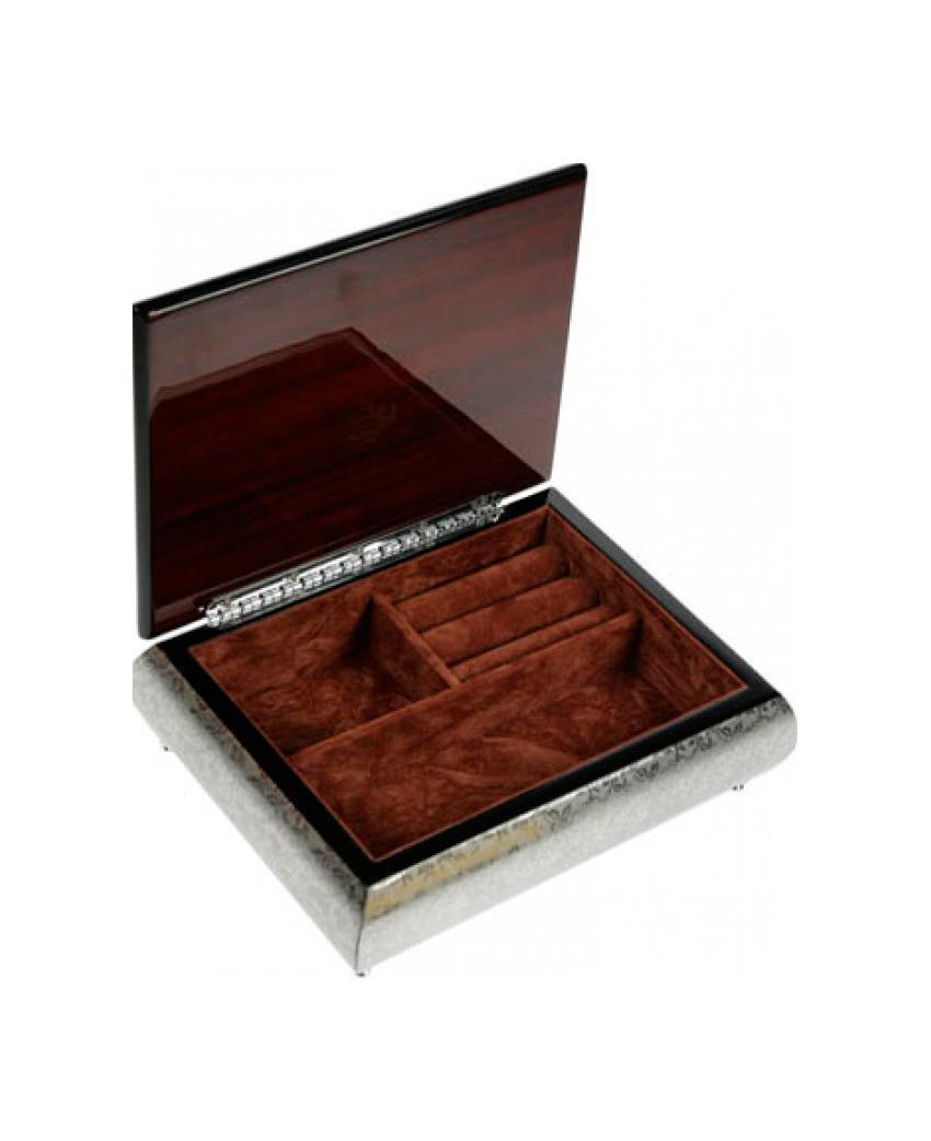 Шкатулка ювелирная Mercante, цвет: серебристый, 21 см х 16,5 см х 6 см. 3614636146Русские подарки MERCANTE 36146 - это шкатулка для ювелирных изделий, которая изготовлена из качественного материала. Данная модель послужит оригинальным и функциональным подарком для человека, ценящего практичные и полезные вещи.