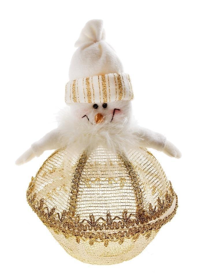 Декоративная новогодняя шкатулка Sima-land Снеговик, цвет: белый, золотистый. 540621540621Хотите порадовать малыша занимательной и оригинальной игрушкой? А кроме того нужно, чтобы она была яркая, увлекательная, а самое главное – безопасная и сделанная из высококачественных материалов? В таком случае Мягкая шкатулка Снеговик - это то, что вам нужно! Ребенок надолго запомнит такой подарок, и с удовольствием будет проводить время с новой игрушкой. Воспользуйтесь уникальной возможностью купить оптом товар высокого качества по лучшей цене.