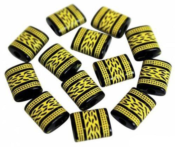 Бусины Астра, цвет: черный, желтый (002), 12 мм х 10 мм, 25 г. 7701061_0027701061_002Набор бусин Астра, изготовленный из пластика, позволит вам своими руками создать оригинальные ожерелья, бусы или браслеты. Бусины выполнены в прямоугольной форме и украшены оригинальным орнаментом. Изготовление украшений - занимательное хобби и реализация творческих способностей рукодельницы, это возможность создания неповторимого индивидуального подарка.