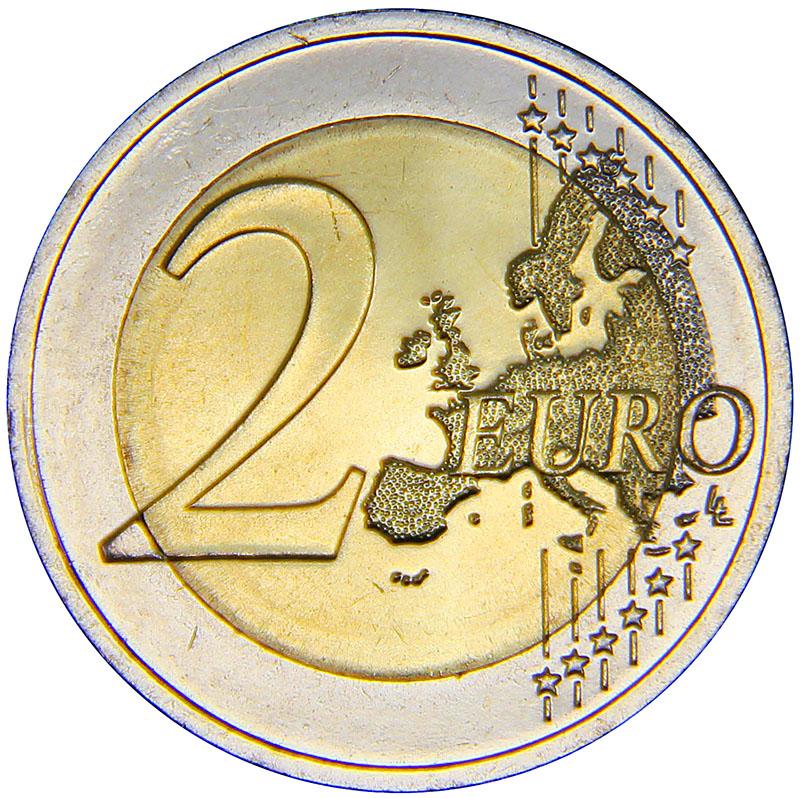 Монета номиналом 2 евро. Литва, 2015 год