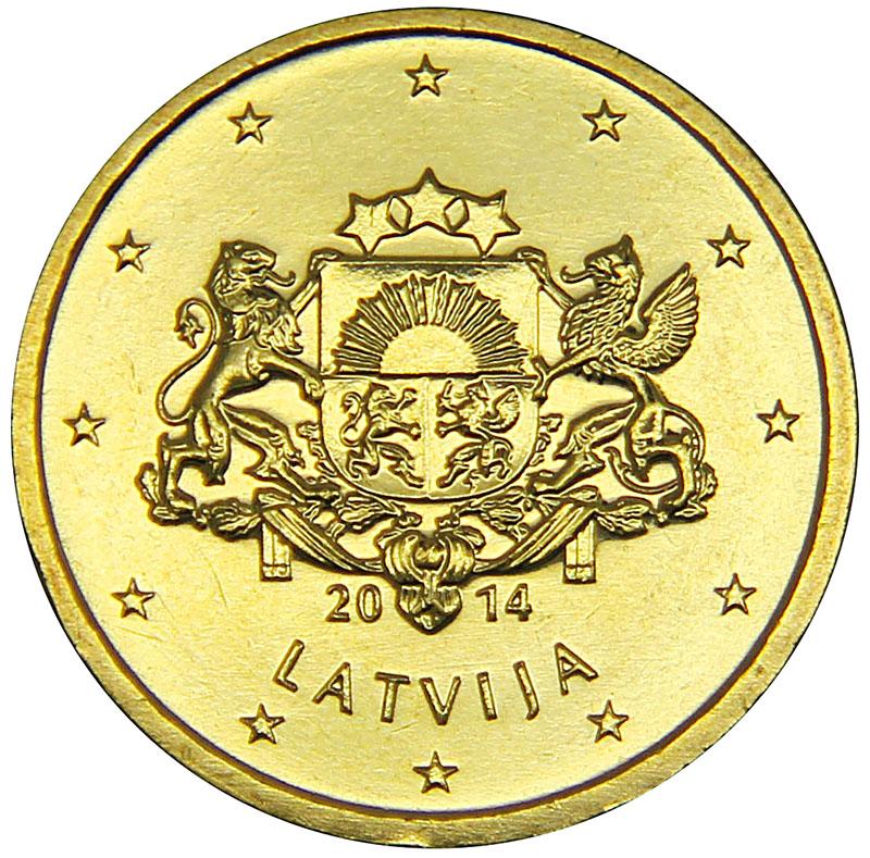 Монета номиналом 50 центов. Латвия, 2014 год304329Материал: Латунь. Диаметр: 25 мм. Состояние: UNC (без обращения).