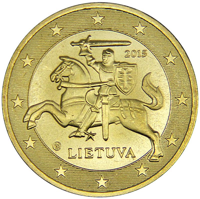 Монета номиналом 50 центов. Литва, 2015 год304329Материал: Латунь. Диаметр: 25 мм. Состояние: UNC (без обращения).
