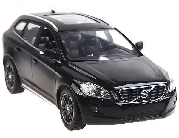 Rastsr Радиоуправляемая модель Volvo XC60 цвет черный31600Радиоуправляемая модель автомобиля Rastar Volvo XC60 в точности повторяет настоящий автомобиль в масштабе 1:14. Легко управляется: назад-вперед, влево-вправо, включающиеся передние и задние фары, дальность управления 15-30 метров, развиваемая скорость 7-12 км/час.