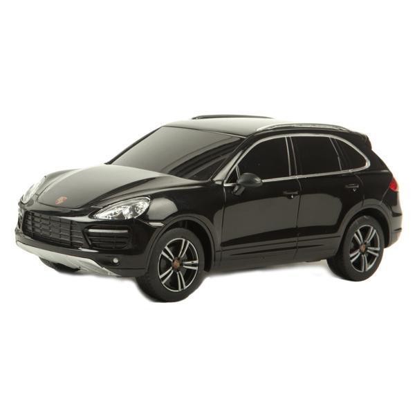 Rastar Радиоуправляемая модель Porsche Cayenne Turbo цвет черный46100Радиоуправляемая модель автомобиля Porsche Cayenne Turbo в масштабе 1:14 является практически точной копией своего настоящего собрата от легендарного немецкого концерна. При движении у машины автоматически зажигаются передние/задние фары (в зависимости от направления движения).