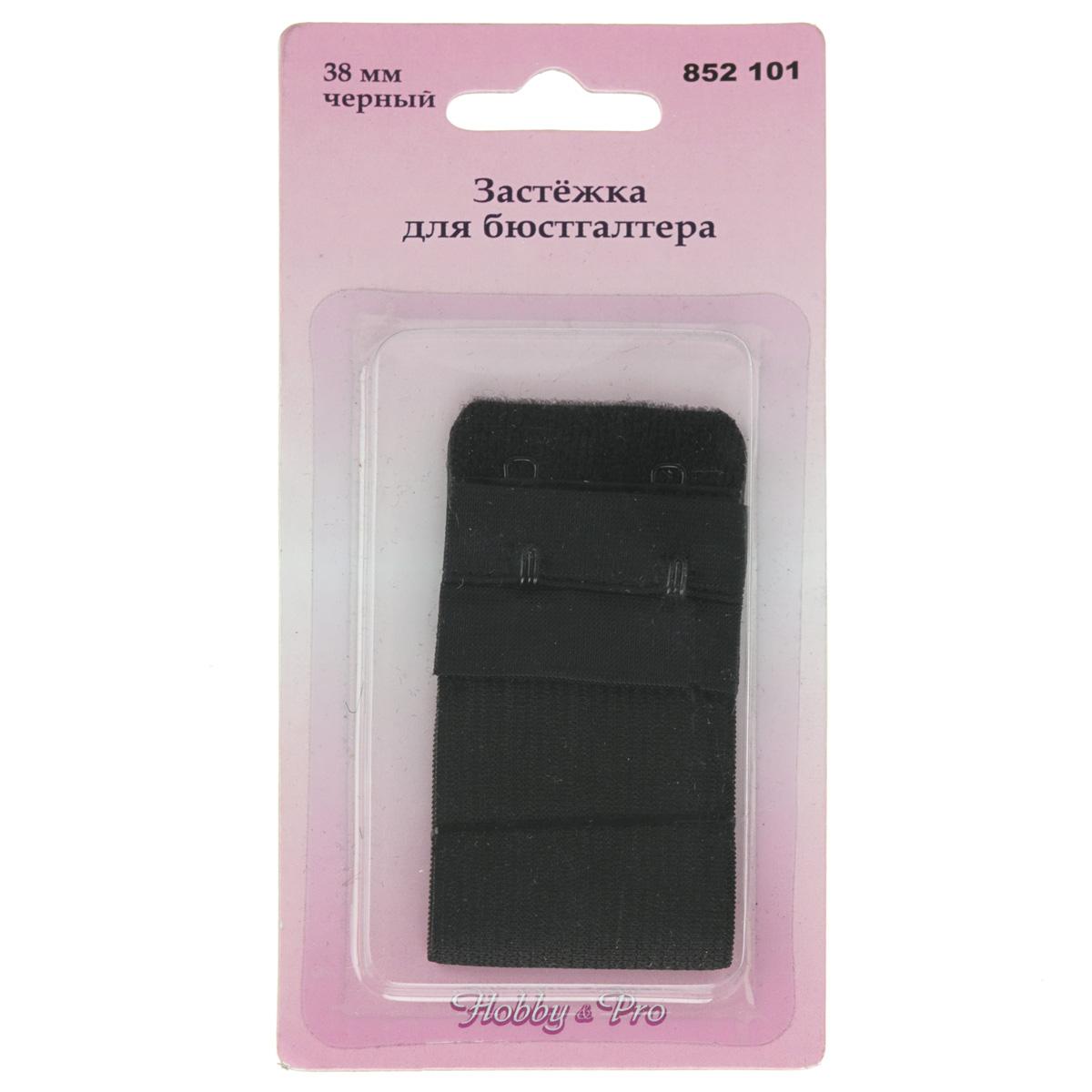Застежка для бюстгальтера Hobby & Pro, цвет: черный, ширина 3,8 см7700512Застежка для бюстгальтера Hobby & Pro изготовлена из эластичного тянущегося текстиля. Изделие оснащено двумя металлическими крючками и предназначено для изготовления или ремонта бюстгальтеров. Застежка с защитой для кожи удобна при носке и не заметна под одеждой.