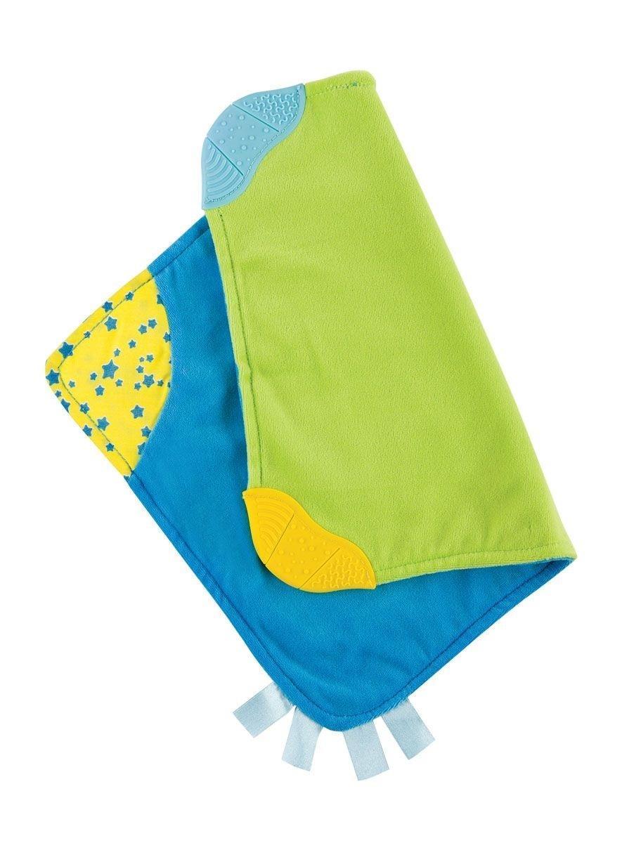 Платочек-прорезыватель Happy Baby330057Платочек-прорезыватель Happy Baby 330057 из мягкой ткани, который поможет успокоить плачущего малыша. Два текстурированных участка для жевания, гибкие углы и яркие цветные сатиновые ленты сделают эту игрушку любимой для ребенка.