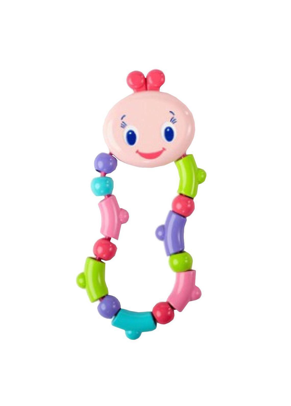 Bright Starts развивающая игрушка-прорезыватель Гусеничка, цвет: желтыйP9059Развивающая игрушка-прорезыватель Гусеничка представляет собой очаровательную мордочку гусеницы с прикрепленными к ней яркими элементами оранжевого, голубого, зеленого, желтого, салатового и красного цветов, скрепленных между собой гибкой веревочкой. Ваш малыш с удовольствием будет кусать, сжимать и крутить эту игрушку! Игрушка-прорезыватель способствует развитию цветовосприятия и мелкой моторики рук.