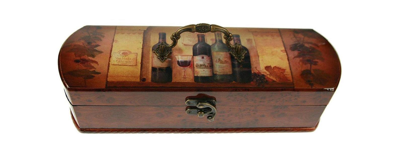 Шкатулка Сундучок под бутылку 36*12*10см 3476234762Шкатулка Русские подарки Сундучок 34762 предназначена для хранения бутылок с вином. Она не оставит равнодушным ни одного любителя оригинальных вещей. Данная модель надежно закрывается на металлический замок. Сочетание оригинального дизайна и функциональности делает такую вещь практичным, стильным подарком и предметом гордости ее обладателя. Материал: MDF, бумага, эл. металла; цвет: коричневый