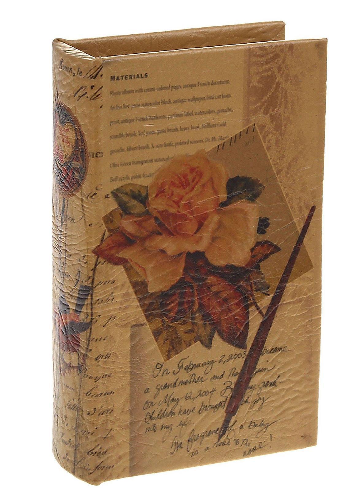 Книга-сейф Письма. 521825521825Этот оригинальный сувенир выполнен в виде книги, содержащей внутри металлический сейф, надежно закрывающийся на ключ. Обложка выполнена из плотного картона и пластика. Снаружи книга-сейф обита кожей, украшенной цветочным рисунком и строчками из писем. Книга-сейф предназначена для хранения необходимых мелочей и может послужить отличным подарком для ваших друзей и близких. В комплекте два ключа для книги-сейфа. Характеристики: Материал: дерево, металл, искусственная кожа. Размер сейфа-книги: 17 см х 11 см х 5 см. Внутренний размер сейфа-книги: 13,5 см х 7,5 см х 4 см. Количество ключей от сейфа-книги: 2. Размер упаковки: 18 см х 12 см х 6 см. Цвет: светло-коричневый. Артикул: 521825.