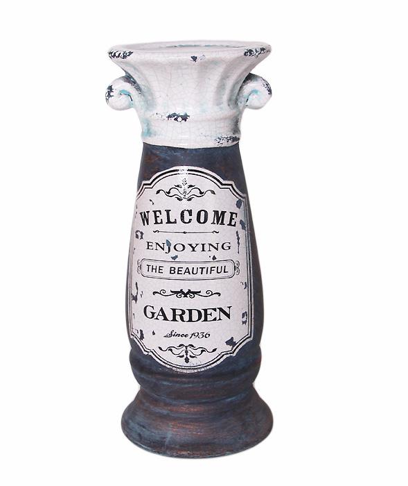 Подсвечник в винтажном стиле Прекрасный сад. Керамика. 2000-е годыПКППМППодсвечник в винтажном стиле Прекрасный сад. Керамика. 2000-е годы. Размер 11 х 26,5 см. Сохранность хорошая.