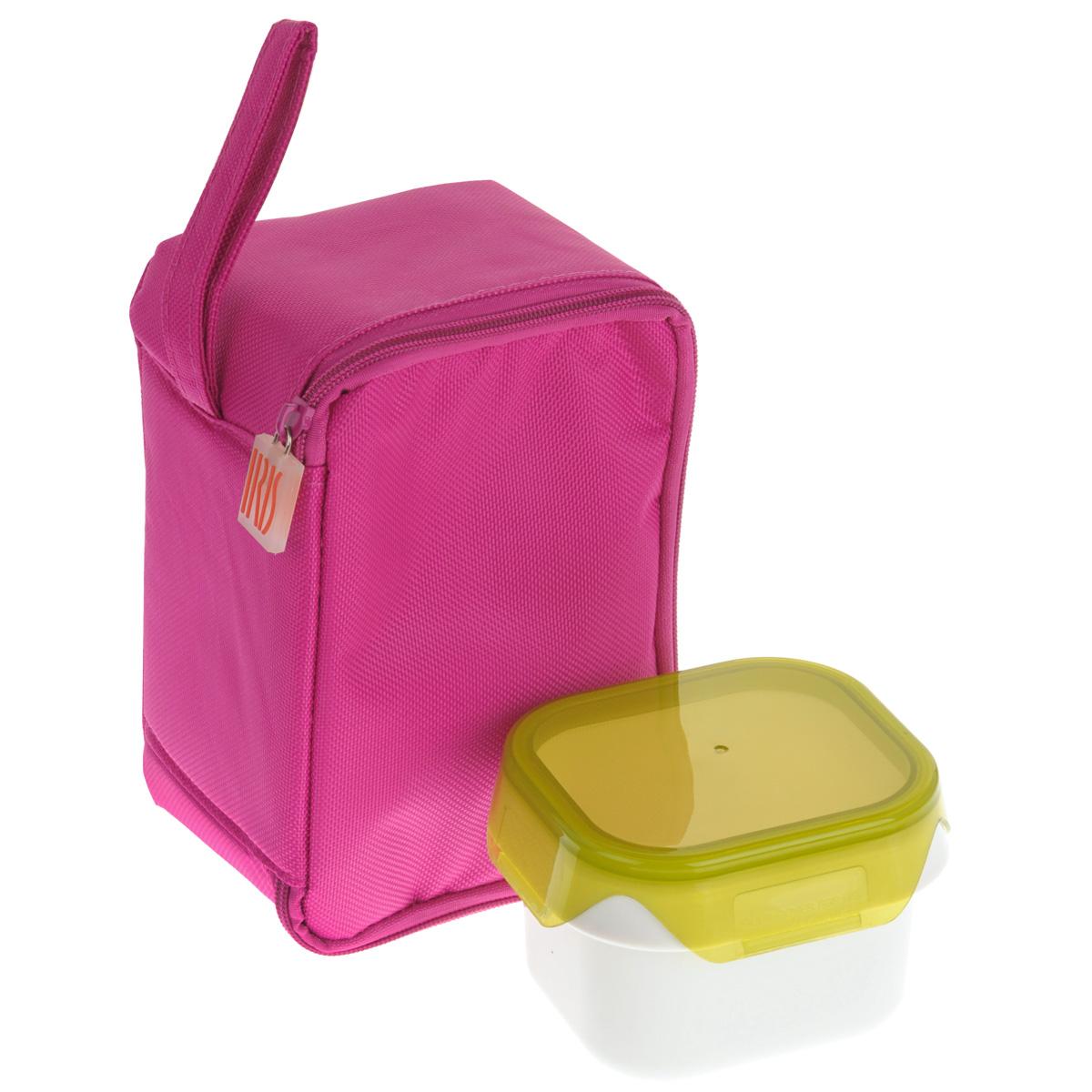 Термоланчбокс Iris Barcelona Baby Lunch, с контейнером, цвет: розовый9696-TИзотермическая сумка-ланчбокс Iris Barcelona Baby Lunch – идеальное решение, чтобы взять с собой обед для вашего ребенка. Ее можно взять с собой куда угодно: на учебу, на прогулку или в путешествие. В течение нескольких часов ланчбокс сохранит еду свежей и вкусной. Есть ручка для переноски в одной руке. В комплект входит 1 герметичный контейнер 0,45 л с прозрачной крышкой. Он подходит для использования в морозильнике, микроволновой печи. Можно мыть в посудомоечной машине. Также в ланчбоксе предусмотрено место для йогурта, крекеров или фруктов. Не содержит Бисфенола А.