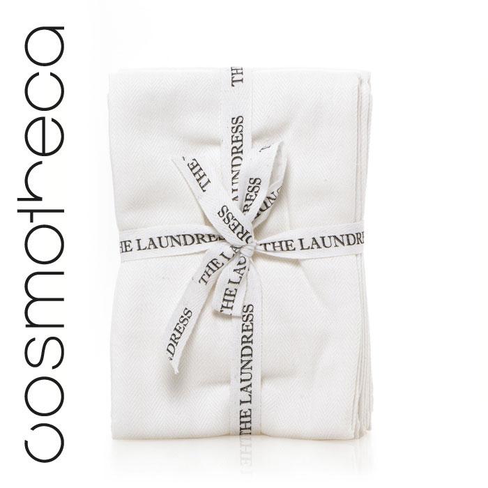 The Laundress Комплект хлопковых салфеток для чистки и уборки помещений, размер 49 х 73 см (3 шт.)LNDRA030Комплект из трех безворсовых тряпок белого цвета для домашней уборки. Сделаны из чистого хлопка. Подходят для уда- ления пятен с одежды и обивки мебели, для мытья стекол, окон, посуды и многого другого. Обеспечивают оптимальный результат при минимальных затратах. После приминения постирайте и используйте снова.