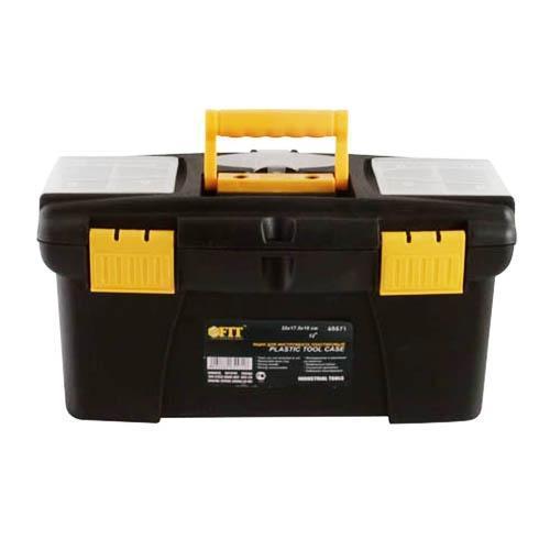 Ящик для инструментов FIT, пластиковый, 32 см х 17,5 см х 16 см65571Пластиковый ящик для инструмента FIT предназначен для хранения и транспортировки инструментов. Подвижный лоток и два встроенных органайзера на крышке позволяют разместить необходимые инструменты и аксессуары. Две пластиковые защелки надежно защищают ящик от непреднамеренного открывания. Такой ящик пригодится как профессионалу, так и домашнему мастеру: он позволяет держать инструменты и крепежные детали в одном месте и обеспечивает их сохранность.