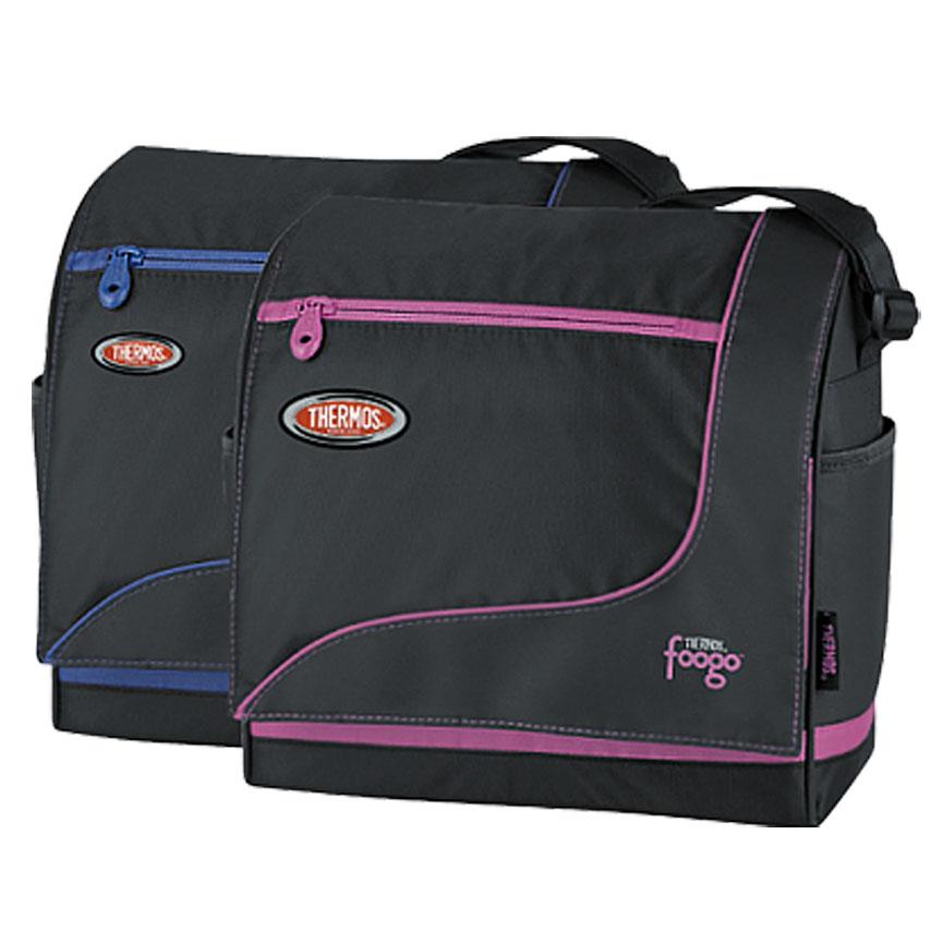 Сумка-термос Foogo Large Diaper Sporty Bag, цвет: черный, голубой, 31 х 34 х 14,5 см