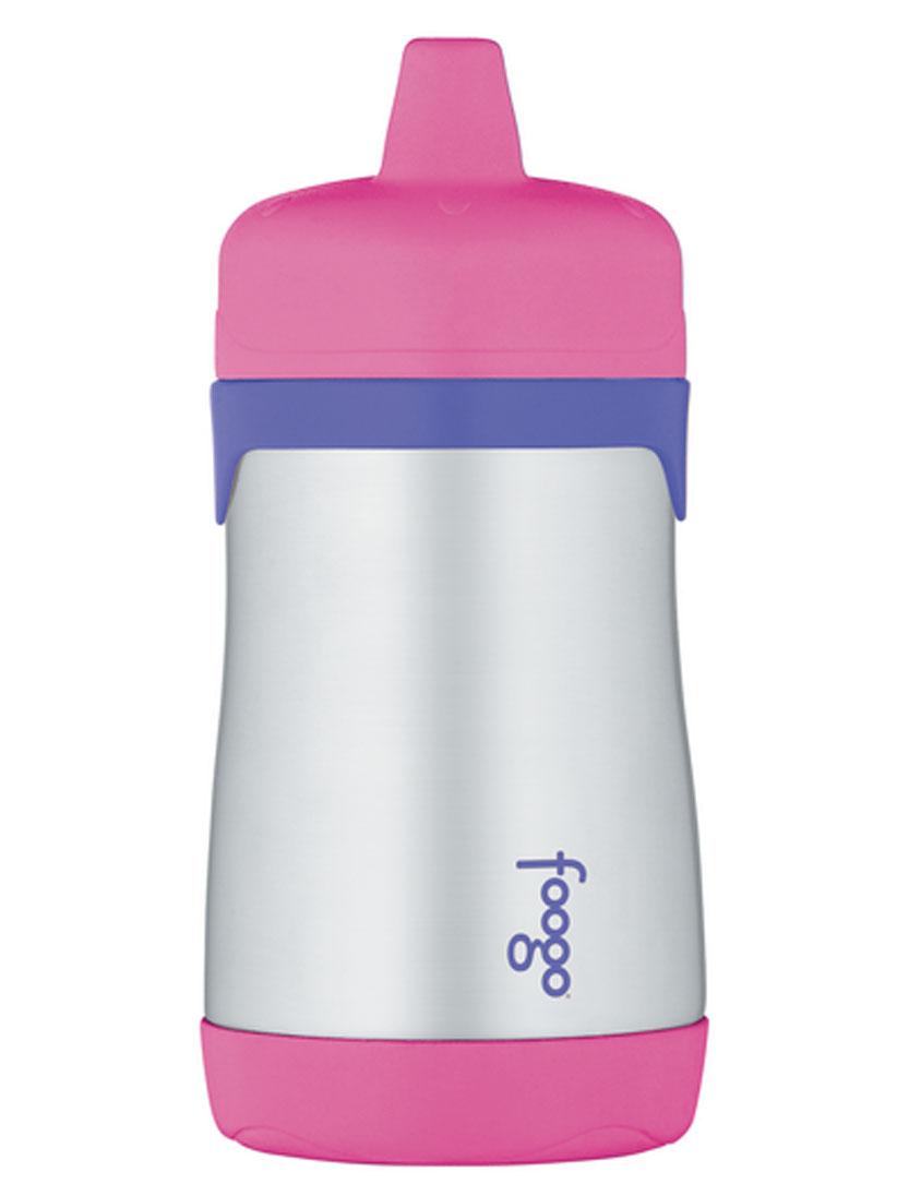 Термос-поильник Thermos Foogo, цвет: розовый, сиреневый, 290 мл102591Термос-поильник Thermos Foogo предназначен для детей в возрасте от 12 месяцев. Он изготовлен из высококачественной нержавеющей стали с применением технологии теплоизоляции Thermax, которая позволяет сохранять температуры продуктов и напитков. Термос держит тепло 7-8 часов, холод 10 часов. Особенности термоса-поильника Phases Foogo: - Позволяет сохранить продукты и напитки безопасными и полезными для здоровья малыша максимально долго; - Пластиковая завинчивающаяся крышка снабжена твердым носиком и легко очищаемым клапаном для защиты от протекания; - Твердый носик не изнашивается при прорезывании зубов; - Благодаря материалу корпуса поильник не выскальзывает из рук; - Все детали изделия можно безопасно мыть в посудомоечной машине на верхней полке. Все приспособления для питья Foogo Phases имеют взаимозаменяемые части, которые подходят для использования со всеми изделиями Phases, включая модели из пластмассы Eastman...