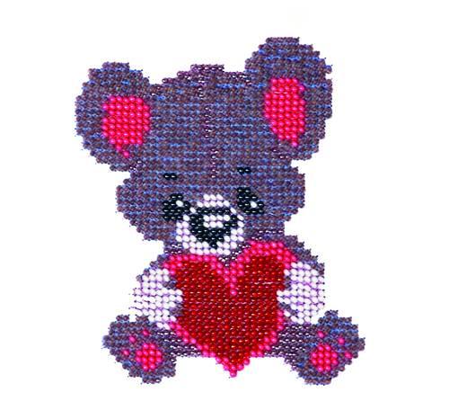 Набор для вышивания бисером Мишка, 10 см х 11 см. 549594549594Набор для вышивания Мишка поможет вам создать свой личный шедевр - красивую картину, вышитую бисером. Работа, выполненная своими руками, станет отличным подарком для друзей и близких! Набор содержит: - ткань с рисунком-схемой, - бисер Preciosa Ornels (Чехия) - 6 цветов, - игла, - схема для вышивания, - инструкция на русском языке.