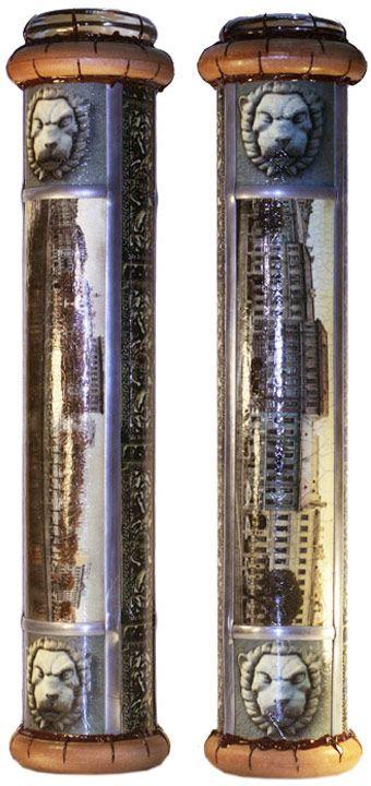 """Красивое стекло Калейдоскоп """"Виды Санкт-Петербурга. Фонтанка"""" (Печать, дерево, цветное стекло, зеркала). Ручная авторская работа а608"""