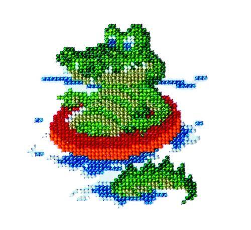 Набор для вышивания бисером Бисеринка Крокодил, 11 х 11 см Б-0031580374Набор для вышивания Бисеринка Крокодил поможет вам создать свой личный шедевр - красивую картину, вышитую бисером на канве. Вышивание отвлечет вас от повседневных забот и превратится в увлекательное занятие! Работа, сделанная своими руками, создаст особый уют и атмосферу в доме и долгие годы будет радовать вас и ваших близких, а подарок, выполненный собственноручно, станет самым ценным для друзей и знакомых. Набор содержит: - бисер (Чехия) - 7 цветов, - ткань с нанесенным цветным рисунком-схемой, - игла бисерная, - инструкция на русском языке.