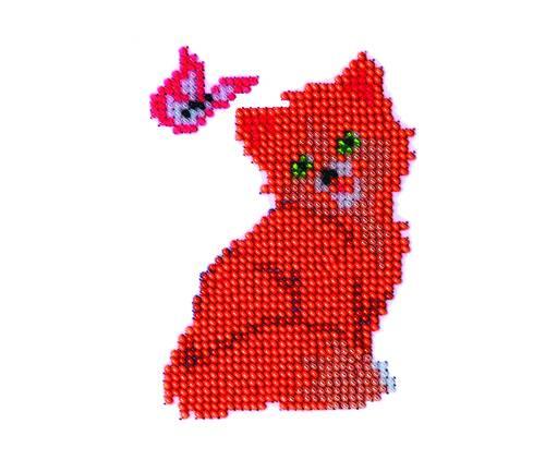 Набор для вышивания бисером Бисеринка Киса, 8 см х 11 см. Б-0021580377Набор для вышивания Бисеринка Киса поможет вам создать свой личный шедевр - красивую картину, вышитую бисером на канве. Вышивание отвлечет вас от повседневных забот и превратится в увлекательное занятие! Работа, сделанная своими руками, создаст особый уют и атмосферу в доме и долгие годы будет радовать вас и ваших близких, а подарок, выполненный собственноручно, станет самым ценным для друзей и знакомых. Набор содержит: - бисер (Чехия) - 7 цветов, - ткань с нанесенным цветным рисунком-схемой, - игла бисерная, - инструкция на русском языке.