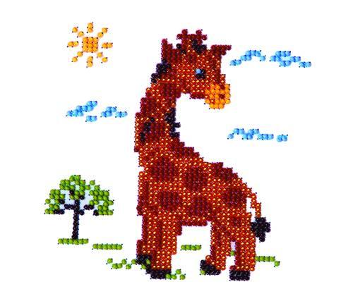 Набор для вышивания бисером Бисеринка Жираф, 12 см х 12 см. Б-0008580425Набор для вышивания Бисеринка Жираф поможет вам создать свой личный шедевр - красивую картину, вышитую бисером на канве. Вышивание отвлечет вас от повседневных забот и превратится в увлекательное занятие! Работа, сделанная своими руками, создаст особый уют и атмосферу в доме и долгие годы будет радовать вас и ваших близких, а подарок, выполненный собственноручно, станет самым ценным для друзей и знакомых. Набор содержит: - бисер (Чехия) - 6 цветов, - ткань с нанесенным цветным рисунком-схемой, - игла бисерная, - инструкция на русском языке.