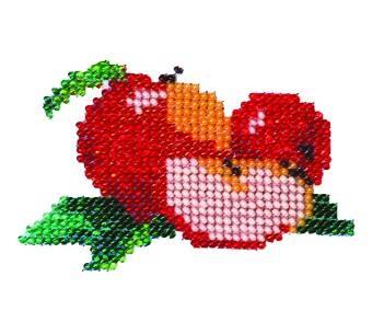 Набор для вышивания бисером Бисеринка Яблочки, 9 х 7 см Б-0006580426Набор для вышивания Бисеринка Яблочки поможет вам создать свой личный шедевр - красивую картину, вышитую бисером на канве. Вышивание отвлечет вас от повседневных забот и превратится в увлекательное занятие! Работа, сделанная своими руками, создаст особый уют и атмосферу в доме и долгие годы будет радовать вас и ваших близких, а подарок, выполненный собственноручно, станет самым ценным для друзей и знакомых. Набор содержит: - бисер (Чехия) - 10 цветов, - ткань с нанесенным цветным рисунком-схемой, - игла бисерная, - инструкция на русском языке.