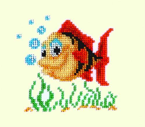 Набор для вышивания бисером Бисеринка Рыбка, 11 х 11 см Б-0013549468Набор для вышивания Бисеринка Рыбка поможет вам создать свой личный шедевр - красивую картину, вышитую бисером на канве. Вышивание отвлечет вас от повседневных забот и превратится в увлекательное занятие! Работа, сделанная своими руками, создаст особый уют и атмосферу в доме и долгие годы будет радовать вас и ваших близких, а подарок, выполненный собственноручно, станет самым ценным для друзей и знакомых. Набор содержит: - бисер (Чехия) - 8 цветов, - ткань с нанесенным цветным рисунком-схемой, - игла бисерная, - инструкция на русском языке.