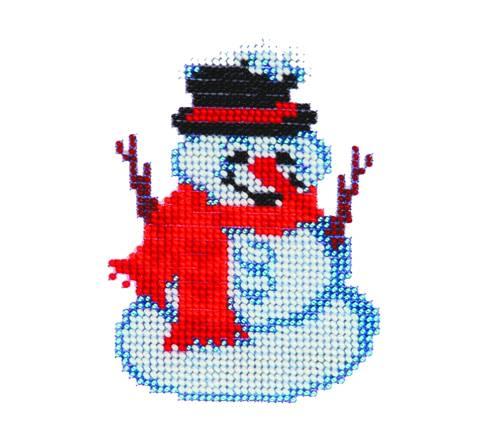 Набор для вышивания бисером Бисеринка Снеговик, 9 х 11 см Б-0036580428Набор для вышивания Бисеринка Снеговик поможет вам создать свой личный шедевр - красивую картину, вышитую бисером на канве. Вышивание отвлечет вас от повседневных забот и превратится в увлекательное занятие! Работа, сделанная своими руками, создаст особый уют и атмосферу в доме и долгие годы будет радовать вас и ваших близких, а подарок, выполненный собственноручно, станет самым ценным для друзей и знакомых. Набор содержит: - бисер (Чехия) - 6 цветов, - ткань с нанесенным цветным рисунком-схемой, - игла бисерная, - инструкция на русском языке.