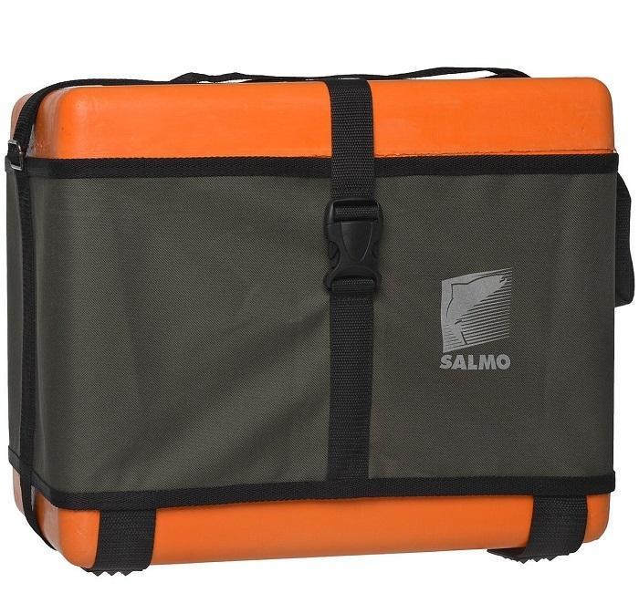 Ящик рыболовный зимний Salmo, цвет: оранжевый, 40 х 22 х 32 смPL-1RЗимний ящик отлично подходит для ловли на льду, можно на нем и посидеть и зимние удочки туда положить, да и улов домой донести. Ящик укомплектован внутренним лотком, а также съемными боковым карманом и лотком, которые позволяют удобно разместить снести и наживку.