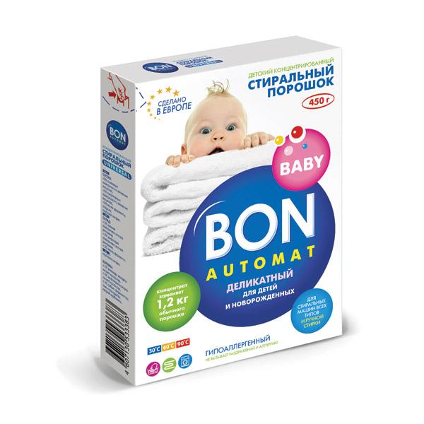 Стиральный порошок Baby Bon Automat. Деликатный, концентрированный, для детского белья, 450 гBN-127Концентрированный стиральный порошок Baby Bon Automat. Деликатный предназначен для замачивания, ручной и машинной стирки, кипячения детских вещей, в том числе пеленок и белья для грудных детей. Входящие в состав природные ферменты обладают мощным отстирывающим действием, эффективно растворяют сильные загрязнения, свойственные детскому белью. Порошок справляется как со свежими, так и с засохшими трудновыводимыми пятнами. Уникальная рецептура на основе натуральных высокоактивных компонентов гарантирует безопасность и отсутствие аллергии. Особенности концентрированного порошка Baby Bon Automat. Деликатный: Экономичен в использовании: концентрата для качественной стирки требуется в 2 раза меньше, чем обычного порошка. Содержит компоненты, снижающие жесткость воды для защиты деталей стиральной машины от накипи. Полностью вымывается из волокон ткани. Безопасность подтверждена дерматологическими исследованиями. Новая формула дополнительного...
