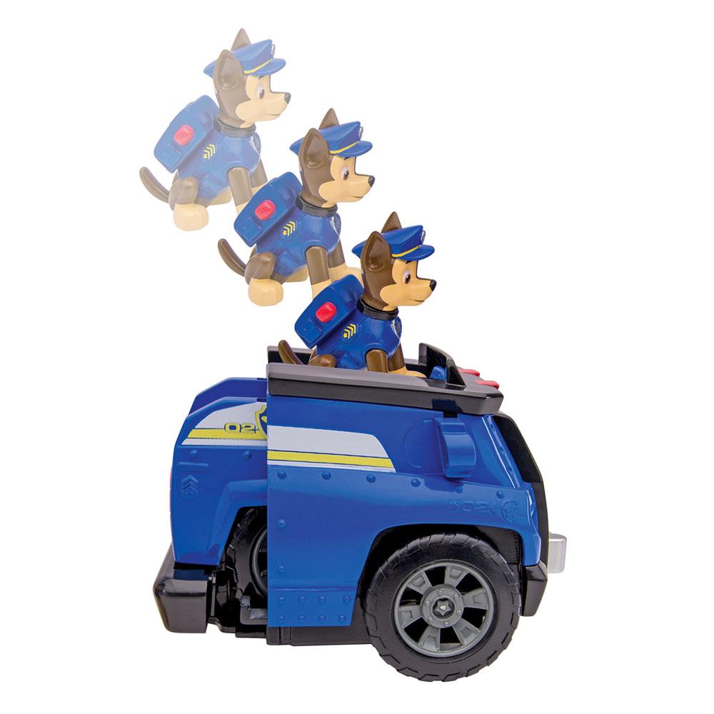 Игрушка Щенячий патруль Автомобиль Chase, со звуком16603 ChaseИгрушка Щенячий патруль Автомобиль Chase выполнена из прочного пластика в виде полицейской машинки щенка Чейза - персонажа мультсериала Paw Patrol (Собачий патруль). В комплект также входят фигурка щенка с подвижной головкой и передними лапками. При нажатии на посадочную площадку в верхней части машинки малыш услышит звуки сирены, гудка или двигателя. Задняя часть машинки задвигается в переднюю, запуская инерционный механизм, и при движении возвращается в исходное положение. Машинка трансформируется в домик щенка. Игрушка станет прекрасным подарком поклоннику мультсериала. Рекомендуется докупить 3 батарейки напряжением 1,5V типа LR44/AG13 (товар комплектуется демонстрационными).
