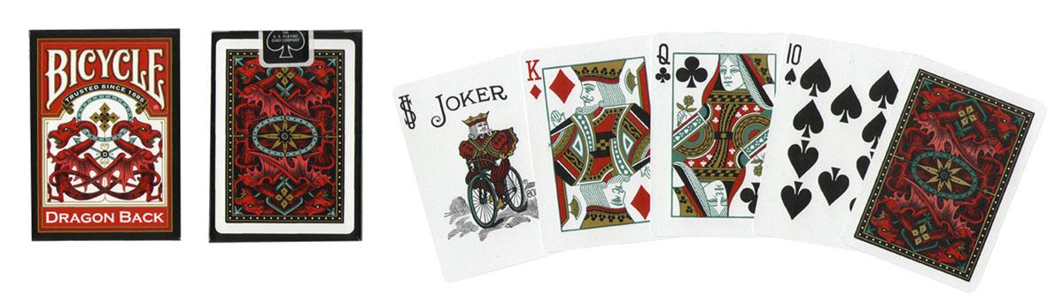 Карты игральные Bicycle Dragon Back, цвет: золотой, 54 карты. 9108а
