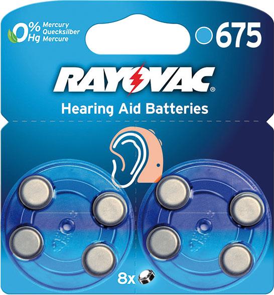 Батерейки Varta Rayovac 675 для слуховых аппаратов, 8 шт39438Батарейки Varta Rayovac 675 специально разработаны для надежной работы в чувствительных слуховых аппаратах. Обладают большой емкостью, не содержат токсичных веществ, имеют длительный срок хранения. Конструкция элемента предусматривает специальную наклейку-ярлычок, исключающую доступ воздуха до момента эксплуатации. Соблюдать полярность. Не перезаряжать. Не вскрывать.