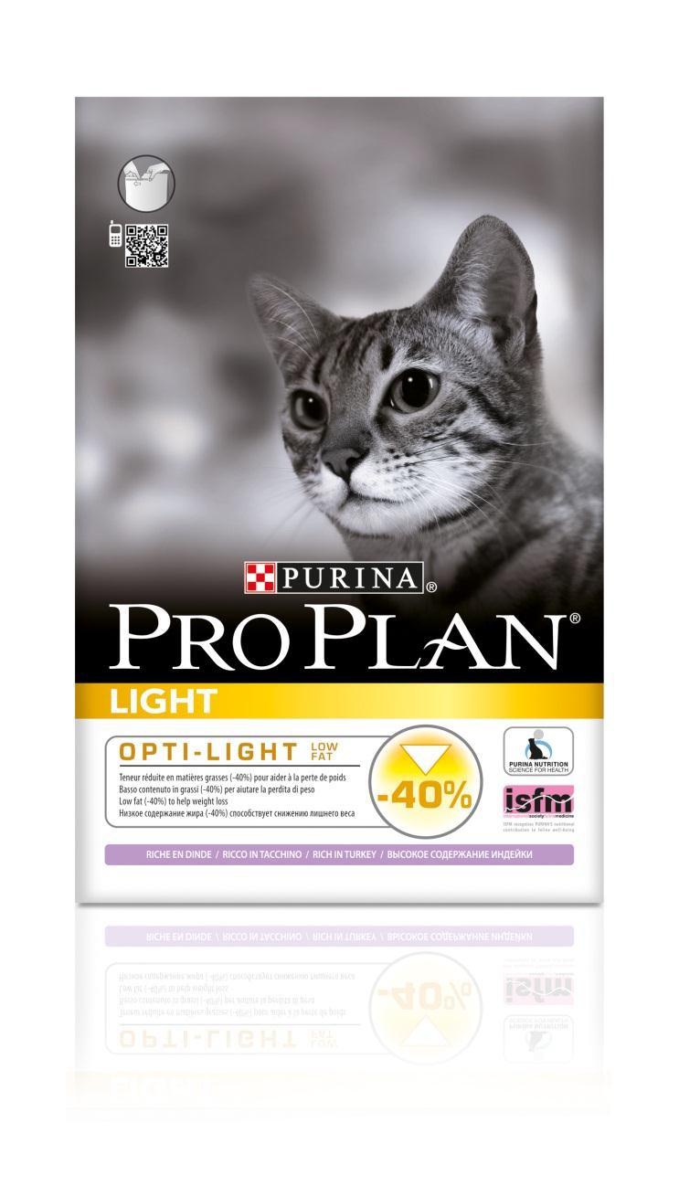 Корм сухой Pro Plan Light для взрослых кошек с избыточным весом, с индейкой и рисом, 1,5 кг12066154Сухой корм Pro Plan Light - это полноценный рацион для взрослых кошек с избыточным весом и склонных к полноте. Он содержит особую разработанную с участием ученых комбинацию ингредиентов для поддержания здоровья вашего питомца в течение продолжительного времени. Особенности сухого корма: низкое содержание жира, высокие вкусовые свойства, делает шерсть шелковистой и блестящей, усвояемость белка выше 85%. Состав: индейка (16%), кукурузный глютен, рис, соя, пшеничный глютен, кукуруза, сухой белок птицы, пшеница, мякоть свеклы, рыбий жир, животный жир, вкусоароматическая кормовая добавка, дрожжи, яичный порошок, минеральные вещества, витамины. Анализ: белок: 38%, жир: 9%, сырая зола: 6%, сырая клетчатка: 3,2%. Добавки на кг: витамин А: 35 200; витамин D3: 1140; витамин Е: 670 мг/кг; железо: 237; йод: 3; медь: 47; марганец: 113; цинк: 400; селен: 0,28 мг/кг. Товар сертифицирован.