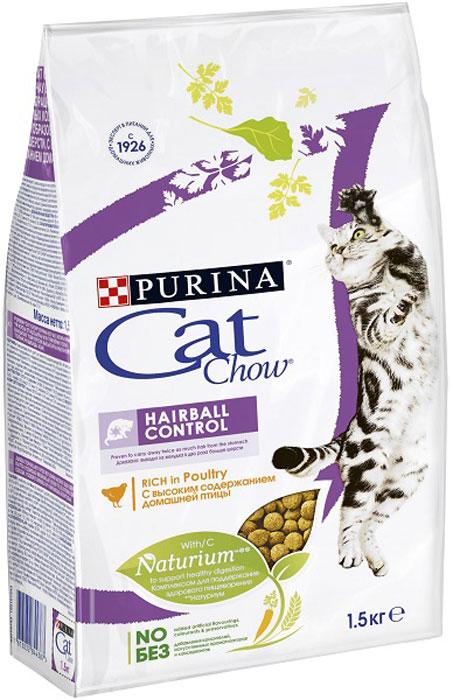 Корм сухой для кошек Cat Chow Special Care, контроль шерсти, 1,5 кг12123730Корм сухой Cat Chow Special Care - полнорационный корм для взрослых кошек, помогающий контролировать образование комков шерсти в желудочно-кишечном тракте. Сама природа вдохновляет компанию PURINA на разработку кормов, которые максимально отвечают потребностям ваших питомцев, с учетом их природных инстинктов. Имея более чем 80-ти летний опыт в области питания животных, PURINA создала новый корм Cat Chow - полностью сбалансированный корм, который не только доставит удовольствие вашей кошке, но и будет полезным для ее здоровья. Особенности корма Cat Chow Special Care: Высокое содержание мяса, с источниками высококачественного белка в каждой порции для поддержания оптимальной массы тела. Особое сочетание натуральных ингредиентов: тщательно отобранные травы и овощи (петрушка, шпинат, морковь, горох). Отборные ингредиенты придают особый аромат. Высокое содержание витамина Е для поддержания естественной защиты организма...