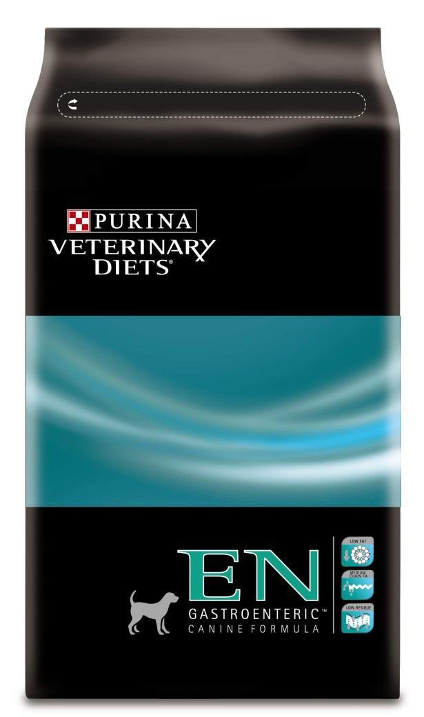 Корм сухой для собак Purina Veterinary Diets EN, при патологии желудочно-кишечного тракта, 3 кг12158197Корм для собак Purina Veterinary Diets EN - диетическое питание, компенсирующее нарушение пищеварения и недостаточность экзокринной функции поджелудочной железы с помощью легко усваиваемых компонентов и низкого содержания жиров. Показания: Энтерит, гастрит и диарея Нарушение экзокринной функции поджелудочной железы Воспалительные заболевания кишечника Лимфангиэктазия Панкреатит Гиперлипидемия Нарушение всасывания и усвояемости Патология печени, не связанная с энцефалопатией. Состав: кукурузная мука, рис, кукурузный глютен, сухой белок птицы, сухая мякоть свеклы, вкусоароматическая кормовая добавка, кокосовое масло, минеральные вещества, животный жир, моно и диглицериды жирных кислот, соевое масло, рыбий жир, инулин, витамины. Анализ: белок: 24%, жир: 10,5%, сырая зола: 6%, сырая клетчатка: 2%. Добавки на кг: витамин А: 30 000; витамин D3: 1000; витамин Е: 560 мг/кг; железо: 240; йод: 3,1; медь: 45; марганец:...