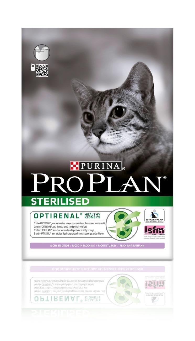 Корм сухой Pro Plan Sterilised для взрослых стерилизованных кошек и кастрированных котов, с индейкой, 3 кг12171006Сухой корм Pro Plan Sterilised - это полноценный рацион для взрослых стерилизованных кошек и кастрированных котов. Он содержит особую разработанную с участием ученых комбинацию ингредиентов для поддержания здоровья вашего питомца в течение продолжительного времени. Корм с высококачественным белком и низким содержанием жира, сочетающий все необходимые питательные вещества, включая витамины А, С и Е, а также Омега-3 и Омега-6 жирные кислоты. Обеспечивает баланс pH мочи. Особенности сухого корма: поддерживает здоровье мочевыводящей системы стерилизованных кошек и кастрированных котов, предотвращая риск развития заболевания нижнего отдела мочевыводящих путей, помогает защищать зубы от образования налета и зубного камня, помогает поддерживать здоровый вес, содержит уникальную формулу для поддержания здоровья почек. Состав: индейка (20%), кукурузный глютен, рис, сухой белок птицы, кукуруза, концентрат горохового белка, пшеничный глютен,...