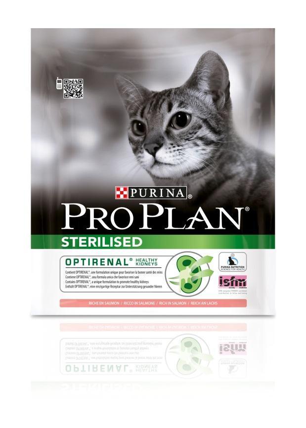 Корм сухой Pro Plan Sterilised для взрослых стерилизованных кошек и кастрированных котов, с лососем, 400 г12171693Сухой корм Pro Plan Sterilised - это полноценный рацион для взрослых стерилизованных кошек и кастрированных котов. Он содержит особую разработанную с участием ученых комбинацию ингредиентов для поддержания здоровья вашего питомца в течение продолжительного времени. Корм с высококачественным белком и низким содержанием жира, сочетающий все необходимые питательные вещества, включая витамины А, С и Е, а также Омега-3 и Омега-6 жирные кислоты. Обеспечивает баланс pH мочи. Особенности сухого корма: поддерживает здоровье мочевыводящей системы стерилизованных кошек и кастрированных котов, предотвращая риск развития заболевания нижнего отдела мочевыводящих путей, помогает защищать зубы от образования налета и зубного камня, помогает поддерживать здоровый вес, содержит уникальную формулу для поддержания здоровья почек. Состав: лосось (20%), сухой белок птицы, кукурузный глютен, рис, кукуруза, концентрат горохового белка, пшеничная клетчатка, яичный...