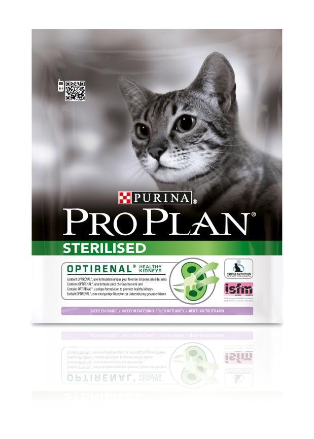 Корм сухой Pro Plan Sterilised для взрослых стерилизованных кошек и кастрированных котов, с индейкой, 400 г12171695Сухой корм Pro Plan Sterilised - это полноценный рацион для взрослых стерилизованных кошек и кастрированных котов. Он содержит особую разработанную с участием ученых комбинацию ингредиентов для поддержания здоровья вашего питомца в течение продолжительного времени. Корм с высококачественным белком и низким содержанием жира, сочетающий все необходимые питательные вещества, включая витамины А, С и Е, а также Омега-3 и Омега-6 жирные кислоты. Обеспечивает баланс pH мочи. Особенности сухого корма: поддерживает здоровье мочевыводящей системы стерилизованных кошек и кастрированных котов, предотвращая риск развития заболевания нижнего отдела мочевыводящих путей, помогает защищать зубы от образования налета и зубного камня, помогает поддерживать здоровый вес, содержит уникальную формулу для поддержания здоровья почек. Состав: индейка (20%), кукурузный глютен, рис, сухой белок птицы, кукуруза, концентрат горохового белка, пшеничный глютен,...
