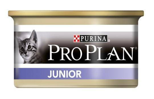 Консервы для котят Pro Plan Junior, с куриной печенью, 85 г12171997Полнорационные консервы Pro Plan Junior со вкусом, который нравится кошкам, содержит все необходимые питательные вещества, включая витамины в большом количестве, для поддержания здорового роста. Доказано, что формула OPTISTART укрепляет здоровье кишечника котят и уменьшает риск расстройств пищеварения. Сильная иммунная система благодаря молозиву, богатому антителами. Поддерживает здоровый рост костей и мускулатуры. Помогает поддерживать здоровое развитие зрения и головного мозга. Подходит для кормления стерилизованных и кастрированных котят. Состав: мясо и субпродукты (из которых курица 14%), рыба и продукты переработки рыбы, минеральные вещества, продукты переработки овощей, сахара. Добавленные вещества: МЕ/кг: витамин А 1645, витамин D3 230, мг/кг: железо 15,7, йод 0,6, медь 1,5, марганец 2,8, цинк 42,5, селен 0,036. Гарантируемые показатели (%): влажность 75, белок 13, жир 7, сырая зола 3,2, сырая клетчатка 0,01. Товар сертифицирован.