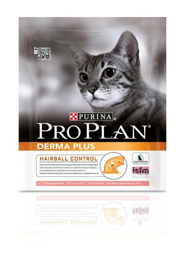 Корм сухой Pro Plan Derma Plus для кошек с проблемами кожи и шерсти, с лососем, 400 г12172082Сухой корм Pro Plan Derma Plus - это полноценный рацион для взрослых кошек с проблемами кожи и шерсти. Он содержит особую разработанную с участием ученых комбинацию ингредиентов для поддержания здоровья вашего питомца в течение продолжительного времени. Особенности сухого корма: формула для чувствительной кожи, высокие вкусовые свойства, делает шерсть шелковистой и блестящей, помогает снижать чрезмерное выпадение шерсти. Состав: лосось (16%), кукурузный глютен, пшеница, концентрат горохового белка, кукуруза, животный жир, пшеничный глютен, сухой белок лосося, сухая мякоть свеклы, яичный порошок, минеральные вещества, сухой корень цикория, вкусоароматическая кормовая добавка, дрожжи. Анализ: белок: 36%, жир: 16%, сырая зола: 6,5%, сырая клетчатка: 6%. Добавки на кг: витамин А: 32 600; витамин D3: 1060; витамин Е: 720 мг/кг; железо: 60; йод: 1,9; медь: 11; марганец: 15; цинк: 150; селен: 0,12 мг/кг. Товар...
