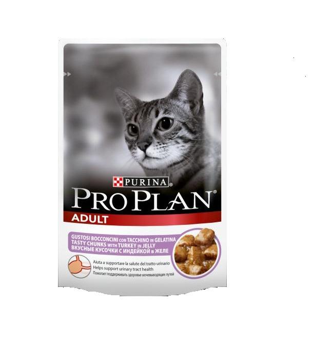 Консервы Pro Plan Adult для взрослых кошек, с индейкой, 85 г12189328Консервы полнорационные Pro Plan Adult со вкусом, который нравится кошкам, содержит все питательные вещества, включая витамины и минеральные вещества, необходимые для полнорационного питания кошек. Состав: мясо и мясные субпродукты (в том числе индейка 4%), рыба и рыбные субпродукты, минеральные вещества, различные сахара. Добавленные вещества (МЕ/кг): витамин А 1035, витамин D3 145, мг/кг: железо 30, йод 0,58, медь 3,7, марганец 5,3, цинк 73, селен 0,049. Гарантированные показатели: влажность 83, белок 8,5, жир 4,2, сырая зола 2,3, сырая клетчатка 0,4. Товар сертифицирован.