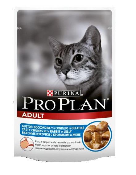 Консервы Pro Plan Adult для взрослых кошек, с кроликом, 85 г12189532Консервы полнорационные Pro Plan Adult со вкусом, который нравится кошкам, содержит все питательные вещества, включая витамины и минеральные вещества, необходимые для полнорационного питания кошек. Состав: мясо и мясные субпродукты (в том числе кролик 4%), рыба и рыбные субпродукты, минеральные вещества, различные сахара. Добавленные вещества (МЕ/кг): витамин А 1035, витамин D3 145, мг/кг: железо 30, йод 0,58, медь 3,7, марганец 5,3, цинк 73, селен 0,049. Гарантированные показатели: влажность 83, белок 8,5, жир 4,2, сырая зола 2,3, сырая клетчатка 0,4. Товар сертифицирован.