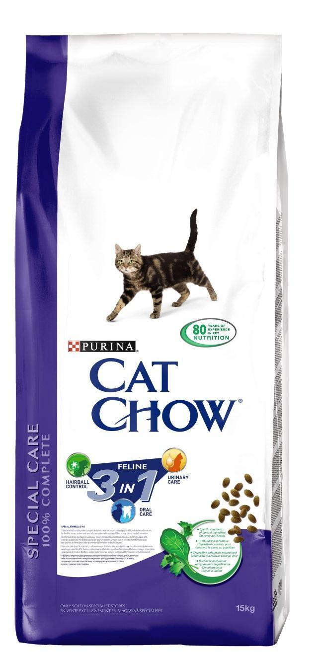 Корм сухой для кошек Cat Chow Feline, с формулой тройного действия, 15 кг12212334Корм сухой для кошек Cat Chow Feline - полнорационный корм для взрослых кошек с формулой тройного действия. Сама природа вдохновляет компанию PURINA на разработку кормов, которые максимально отвечают потребностям ваших питомцев, с учетом их природных инстинктов. Имея более чем 80-ти летний опыт в области питания животных, PURINA создала новый корм Cat Chow - полностью сбалансированный корм, который не только доставит удовольствие вашей кошке, но и будет полезным для ее здоровья. Особенности корма Cat Chow Feline: Высокое содержание мяса, с источниками высококачественного белка в каждой порции для поддержания оптимальной массы тела. Особое сочетание натуральных ингредиентов: тщательно отобранные травы и овощи (петрушка, шпинат, морковь, горох). Отборные ингредиенты придают особый аромат. Высокое содержание витамина Е для поддержания естественной защиты организма питомца. Содержит мякоть свеклы и цикорий для...