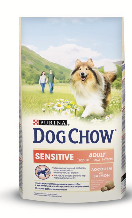 Корм сухой Dog Chow Sensitive для взрослых собак с чувствительным пищеварением, с лососем, 14 кг12233227Сухой корм Dog Chow Sensitive - 100% полнорационное сбалансированное питание, предназначенное для собак с чувствительной кожей и чувствительным пищеварением. Содержит натуральный пребиотик, улучшающий работу пищеварительной системы. Цикорий - источник натурального пребиотика, который, как показали исследования, способствует росту численности полезных кишечных бактерий и нормализации деятельности пищеварительной системы. Корм для собак с чувствительной кожей и чувствительным пищеварением содержит омега-3 жирные кислоты, которые поддерживают здоровье чувствительной кожи и шерсти, а также натуральный пребиотик, улучшающий работу пищеварительной системы, помогая вашему питомцу быть счастливым. Гранулы двух видов для гигиены полости рта. Специальная форма и текстура гранул способствует легкому пережевыванию и поддержанию здоровья полости рта. Наши диетологи и заводчики тщательно протестировали это сочетание гранул для гарантии того, что они...
