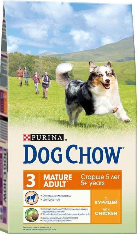 Корм сухой Dog Chow для взрослых собак старше 5 лет, с курицей, 2,5 кг12233242Сухой корм Dog Chow - 100% полнорационное сбалансированное питание для взрослых собак старшего возраста. Корм с высоким содержание мяса помогает взрослым собакам сохранять оптимальную мышечную массу тела и поддерживать хорошую работу сердца. Необходимое содержание белков и жиров, тщательно сбалансированное для поддержания оптимальной массы тела взрослой собаки старшего возраста. Содержит натуральный пребиотик, улучшающий работу пищеварительной системы. Цикорий - источник натурального пребиотика, который, как показали исследования, способствует росту численности полезных кишечных бактерий и нормализации деятельности пищеварительной системы. Гранулы двух видов для гигиены полости рта. Специальная форма и текстура гранул способствует пережевыванию и поддержанию здоровья полости рта. Наши диетологи тщательно протестировали это сочетание гранул для гарантии того, что они подходят и нравятся взрослым собакам различных пород. Незаменимые...