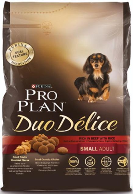 Корм сухой Pro Plan Duo Delice для собак мелких и карликовых пород, с говядиной и рисом, 700 г12251943Сухой корм Pro Plan Duo Delice - это полнорационный корм для взрослых собак мелких и карликовых пород. Это первый корм для собак, сочетающий в себе безупречные питательные свойства вместе с исключительным вкусом. Он состоит из уникального комплекса питательных хрустящих гранул и нежных измельченных кусочков мяса, которые собаки просто обожают. Состав: говядина (17%), пшеница, кукуруза, сухой белок птицы, животный жир, пшеничный глютен, сухая мякоть свеклы, рис (4%), минеральные вещества, вкусоароматическая кормовая добавка, пропиленгликоль, яичный порошок, рыбий жир, солодовая мука, витамины. Добавленные вещества (на 1 кг): витамин А 28200 МЕ; витамин D3 920 МЕ; витамин Е 550 МЕ; витамин С 140 мг; железо 75 мг; йод 1,9 мг; медь 10 мг; марганец 35 мг; цинк 140 мг; селен 0,12 мг. Технологические добавки: экстракт токоферолов натурального происхождения 60 мг/кг. Гарантируемые показатели: белок 27%, жир 17%, сырая зола 8%, сырая клетчатка 2%. Товар...