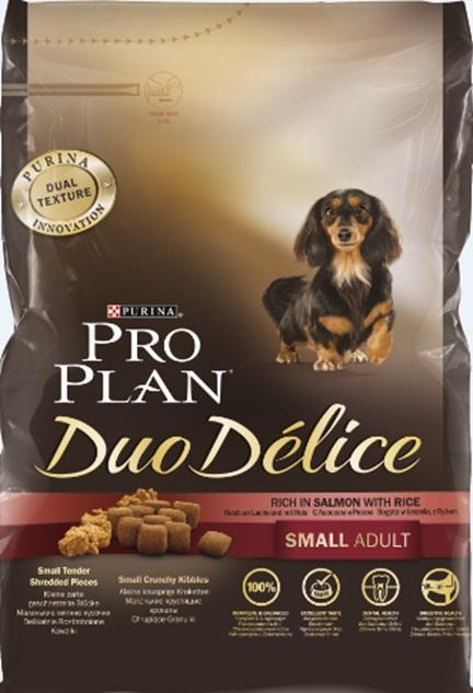 Корм сухой Pro Plan Duo Delice для собак мелких и карликовых пород, с лососем и рисом, 700 г12251947Сухой корм Pro Plan Duo Delice - это полнорационный корм для взрослых собак мелких и карликовых пород. Корм Pro Plan Duo Delice обеспечивает правильный баланс питательных веществ для поддержания здоровья и хорошего самочувствия взрослых маленьких собак. Тщательно отобранные ингредиенты и специально разработанный нами процесс приготовления обеспечивают высокую усвояемость корма, благодаря чему собаки получают необходимые им питательные вещества. Превосходный вкус. Собаки обожают инновационное сочетание хрустящих крокет и мягких кусочков, в которых основным ингредиентом является лосось. Для здоровья зубов. Уникальное сочетание хрустящих крокет и мягких кусочков побуждает собаку с удовольствием пережевывать корм. Механическое воздействие хрустящих крокет на зубы вашей собаки действует как зубная щетка, тем самым способствуя уменьшению отложения зубного камня. Для здоровья пищеварительного тракта. Содержащаяся в корме клетчатка помогает поддерживать здоровье...