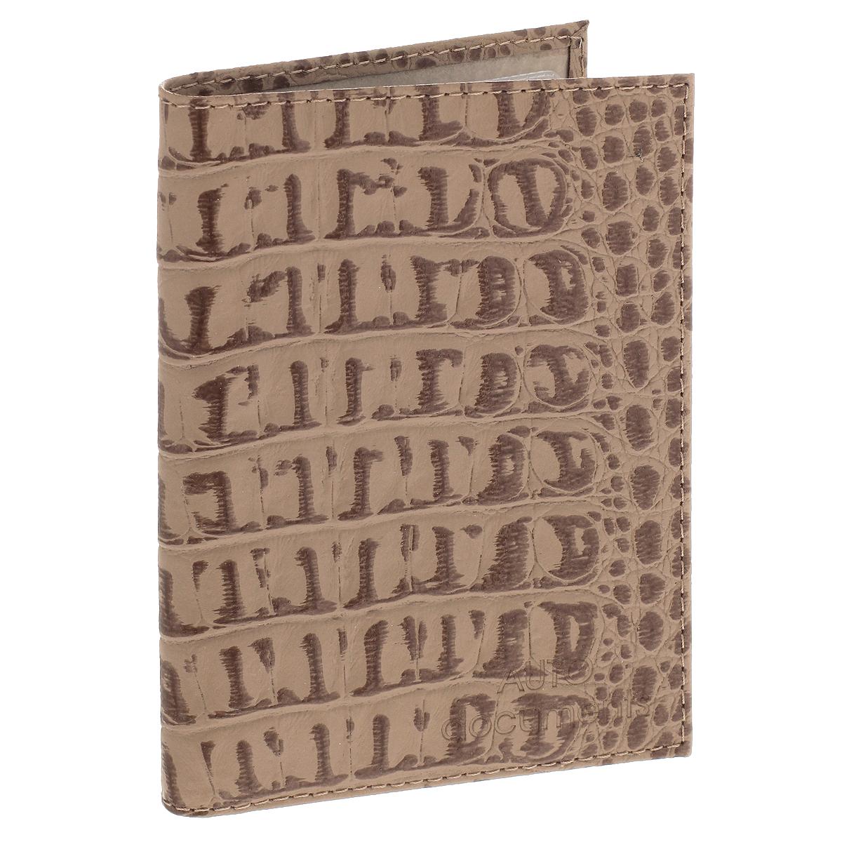 Бумажник водителя Befler, цвет: бежевый. BV.1.-13BV.1.-13. бежевыйЭффектный бумажник водителя Befler изготовлен из натуральной кожи и декорирован тиснением под рептилию. Изделие с обеих сторон дополнено тиснеными надписями. Внутри содержится съемный блок из 6 пластиковых файлов, а также 2 прозрачных боковых кармана. Изделие упаковано в фирменную коробку. Такой бумажник не только защитит ваши документы, но и станет стильным аксессуаром, который прекрасно дополнит образ.